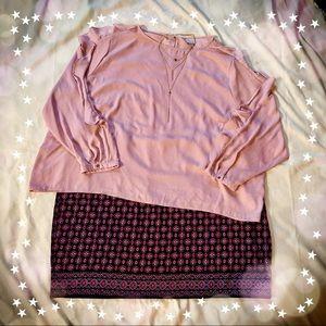 Blush Pink ruffle sleeve blouse